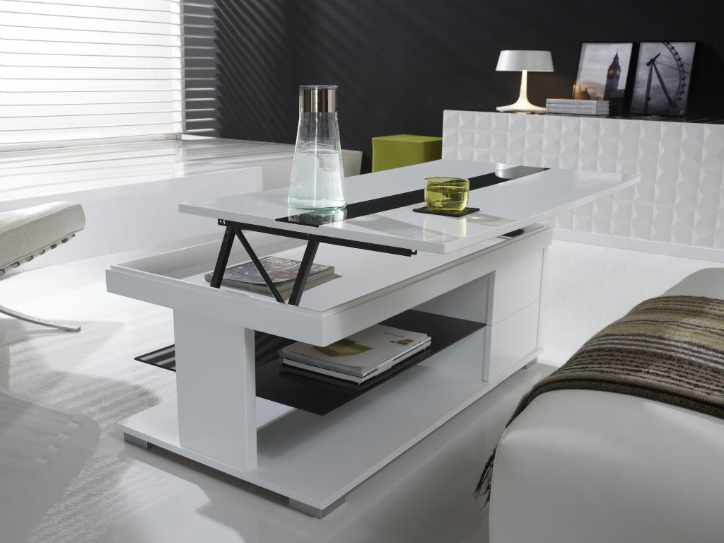 Table basse relevable un mobilier indispensable pour la - Table basse delamaison ...