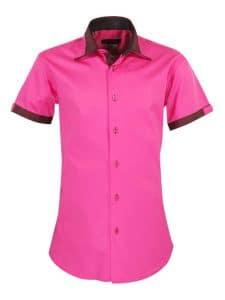 chemise-manches-courtes-rose-fushia-tendance