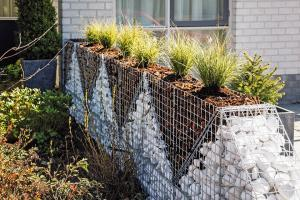 installation gabion en triangle