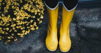 bottes en caoutchouc équipement type du jardinier