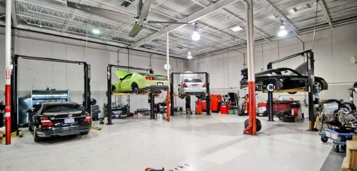 un centre d'esthétique de véhicules